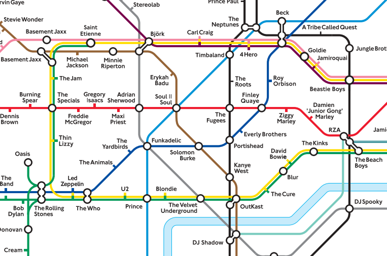 London Underground Map sur The Guardian